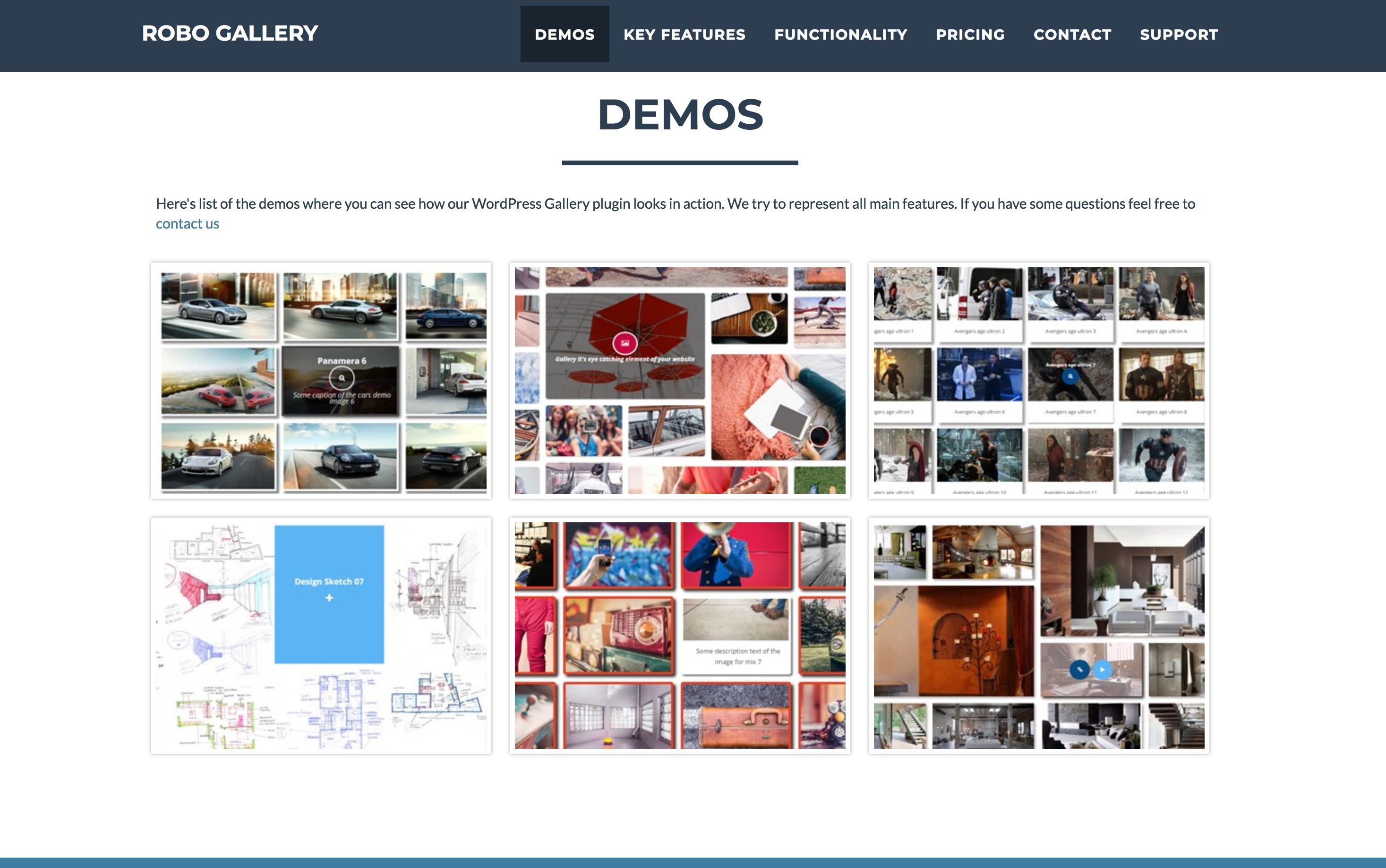 WordPressプラグインRobo Gallery