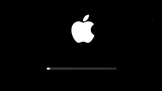 Mac復旧中インジケーターバー